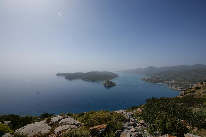 Bucht von Elounda mit der Lepra-Insel Spinalonga