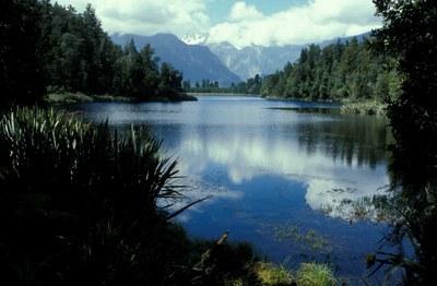Neuseeland Süd: Blick auf den Mirror Lake