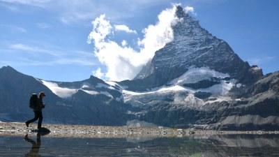 Gletscher am Fuße des Matterhorn