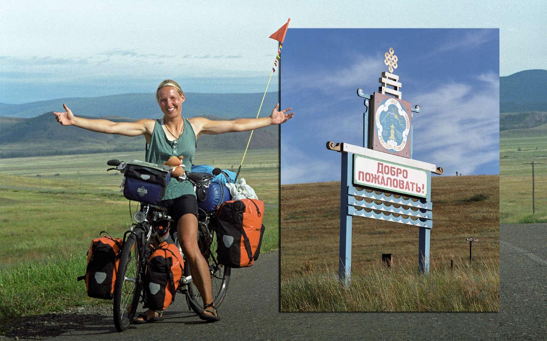 Nicola Haardt auf dem Weg zum Baikalsee